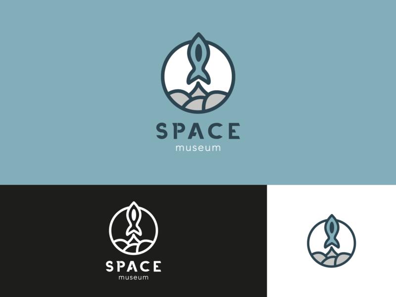 Space Museum logo design logodesign brand design branding concept branding logo typography illustrator design vector