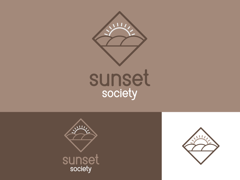 Sunset Society colors color dribble shot dribblers dribbler dribble dribbble logo design logodesign brand design logo branding concept branding typography illustrator design vector
