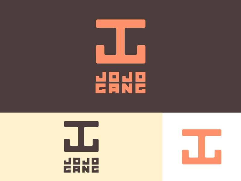 Jojo Gang dribblers dribbler dribbble best shot dribble dribbble logo design logodesign brand design logo branding concept branding typography design illustrator vector