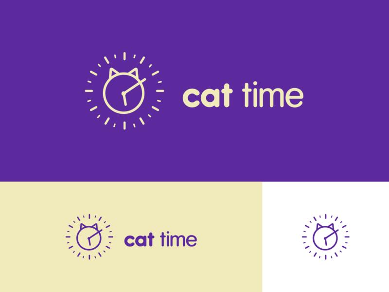 Cat Time dribbbler dribbble best shot dribbble dribble logo design logodesign brand design logo branding concept branding typography illustrator design vector
