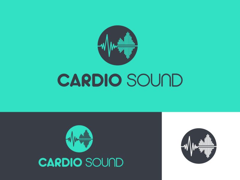 Cardio sound dribblers dribbble shots shot dribbler dribble shot dribble logo design logodesign brand design logo branding concept branding typography illustrator design vector