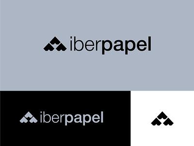 Iberpapel logos print paper brand branding design brand identity brand design logotype logo design logodesign branding concept branding logo dribble dribbble typography illustrator vector design