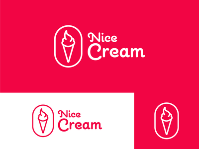 Nice Cream brand identity brand color palette art color vector typography logodesign logo design logo illustrator dribble dribbbler dribbble best shot dribbble draw design branding concept branding brand design