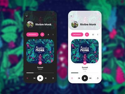Music player  #DayliUI #009 dayliui concept mobile ui mobile app webdesign website animation flat minimal web app icon typography ux vector branding ui logo illustration design