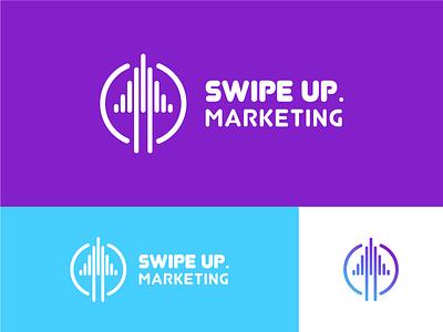 Swipe UP Marketing dribbble best shot colorpalette color brand graphic design dribbble logo branding illustrator typography vector design