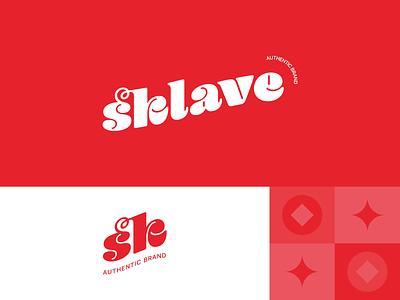 Sklave brand identity original white trend red color palete dribbbler dribbble best shot graphic design color brand dribbble logo branding illustrator typography design vector