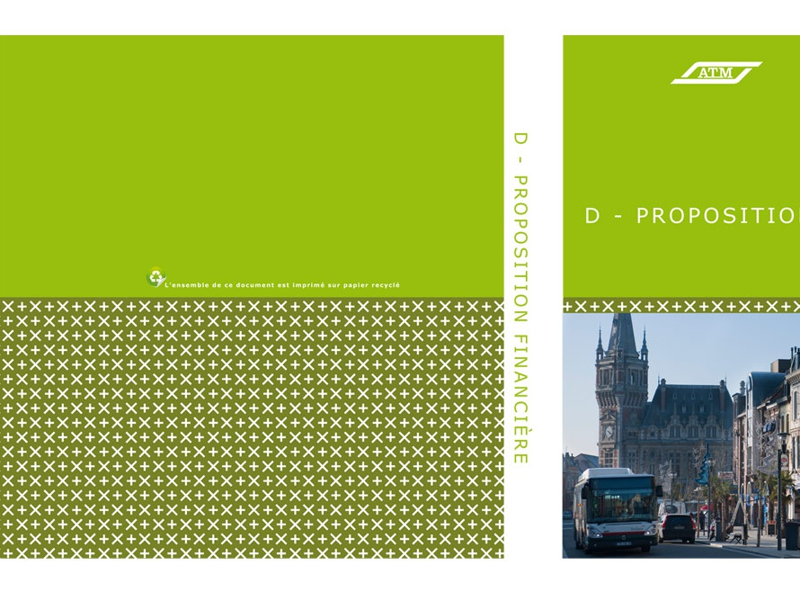 ATM / Veolia Transport city lille france tramway metro bus print pages word adobe indesign layout texts pictures binder transport veolia atm call for tender print design