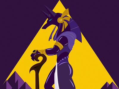 Anubis ancient egypt ancient art animal egypt god anubis illustrator illustration graphic design design
