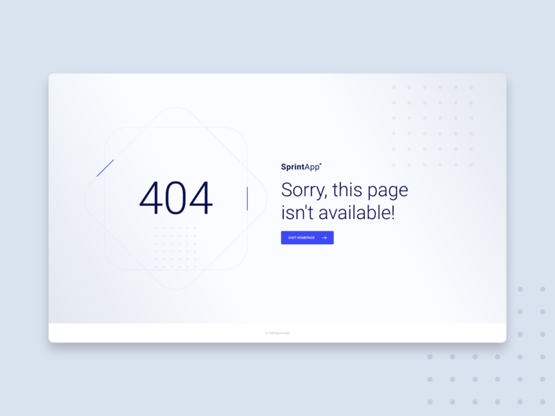 404 Not found page design