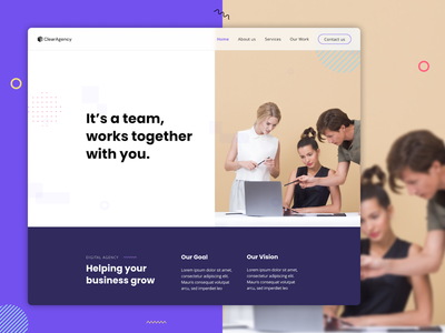Digital agency website design – About page hero team page adobe xd xd design website designer website design web designer web  design web design agency web design ui design template design digital agency design portfolio agency landing page agency website hero section about page about us aboutus about