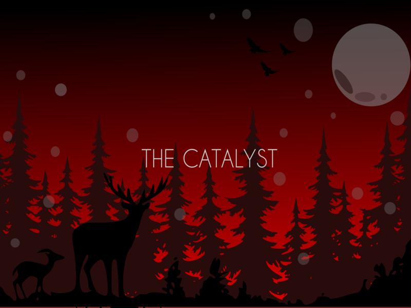 The catalyst app ui cute art night landscape nature background art vector animal simple flat 3d graphic design flat flat  design minimal background design graphic abstract illustration design