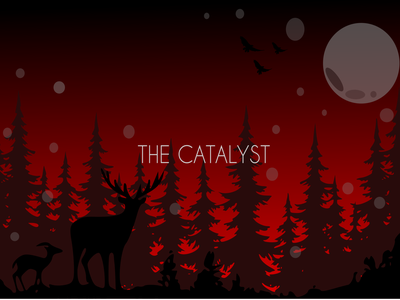 The catalyst app ui cute art night landscape nature background art vector animal simple flat 3d graphic design flat flat  design minimal background design graphic abstract illustration design
