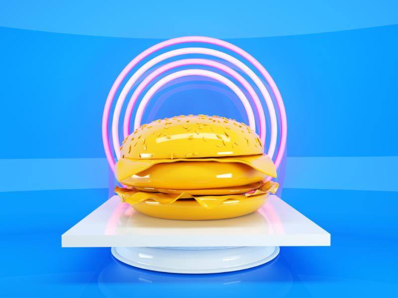 Saint Cheeseburguer cheeseburguer burger 3dart 3d dailyrender cinema4d otoy render octane