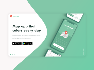 Daily UI challenge 003 ▷ Landing Page xd web app landingpage cd ux ui interface dailyuichallenge dailyui003 dailyui appdesign