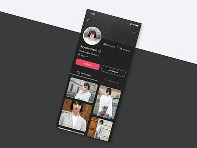 Daily UI challenge 006 ▷ User Profile daily006 dailyui006 dailyuichallenge dailyui webdesign uidesign interface design xd web ux ui appdesign app