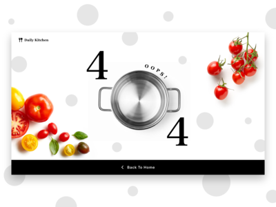 Daily UI challenge 008 ▷ 404 Page