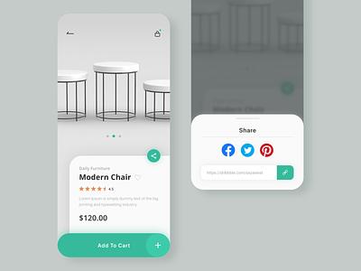 Daily UI challenge 010 ▷ Social Share inspiration dailyui dailyui010 dailyuichallenge interface webdesign uidesign appdesign app xd web ux ui