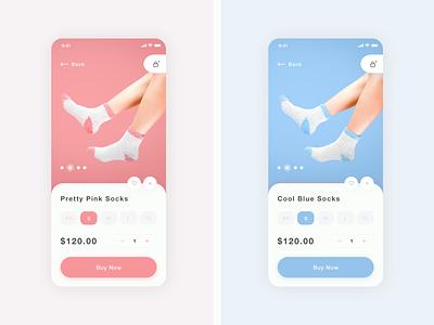 Daily UI challenge 012 ▷ E-Commerce Shop (Single Item) socks ecommerce app ecommerce dailyui012 dailyui dailyuichallenge webdesign uidesign interface appdesign app xd web ux ui