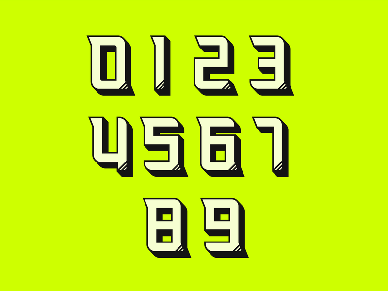 Custom Numbers - Striker TC font type numbers typography design sports