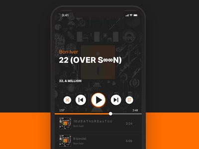 Daily UI challenge #09 — Music Player