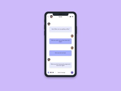 Daily UI 13   Direct Messaging App