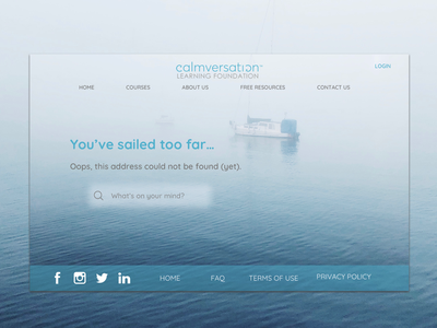 Daily UI Challenge Day 8: 404 Page webdesign web 404 page calm 100 day challenge ui ux design dailyui