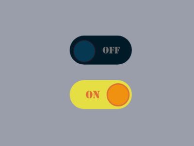 Daily UI Challenge Day 15: Switch On/Off Buttons