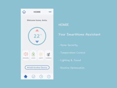 Daily UI  Design Challenge 21: Home Monitoring Dashboard