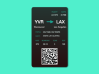Daily UI  Design Challenge 24: Boarding Pass