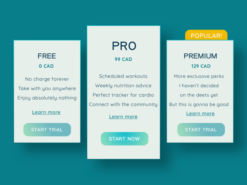 Daily UI  Design Challenge 30: Pricing pricing page pricing minimal calm web 100 day challenge ux ui design dailyui