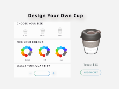 Daily UI  Design Challenge 33: Customize Product