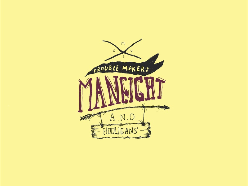 Maneight clean type typography identity animation vector minimal logo illustrator illustration flat design branding