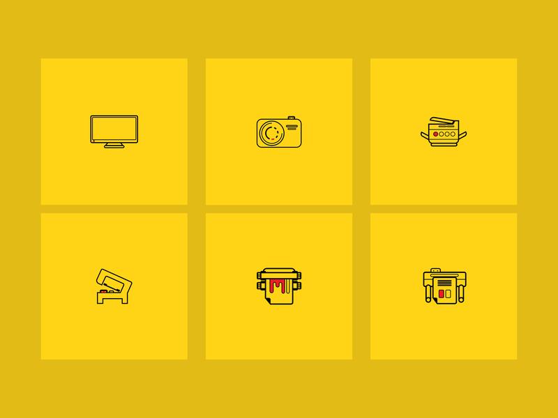 Collection Icon 3 brand website lettering art graphic design type clean typography minimal vector logo ux ui illustration illustrator flat design icons icon branding