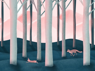 The Chase the woods forest design digital painting procreate procreate art digital art digital illustration digitalart
