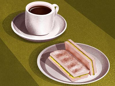 Singaporean breakfast singapore coffee breakfast food food illustration design procreate art procreate digital painting digital illustration digital art digitalart