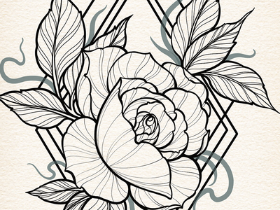 Floral Illustration - Work In Progress floral illustration illustration work in progress tattoo artist floral design floral art line art tattoo art