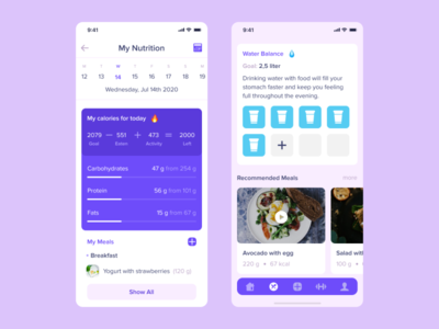 Diet Diary uxui dribbble app top popular design interface mobile food calorie diary nutrition diet