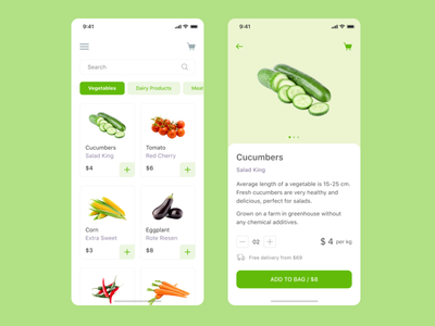 Food Delivery dribbble uxui app top popular interface design mobile fresh farm vegetables food delivery