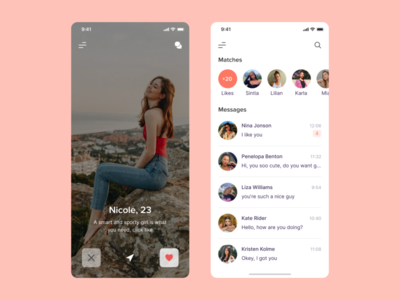 Date App datingapp dating mobile app dribbble ux ui top popular interface design