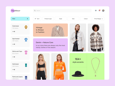 Clothing Store dribbble app ui ux top popular design interface desktop style fashion clothes store
