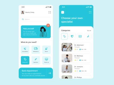 Medical App ui ux top popular design app mobile interface care health doctors medical