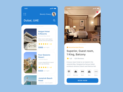 Booking App ui ux top popular design interface app mobile service room dubai hotel booking