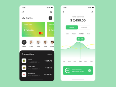 Mobile Bank vector ui ux top popular interface design app mobile payment credit finance bank