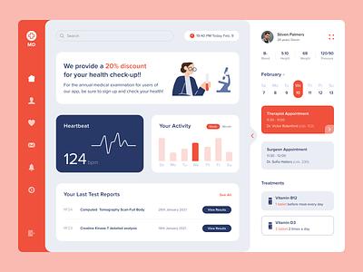 Med App vitamin check uxui top popular desktop design interface test doctor medicine medical health