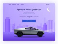 Spotify x Tesla Cybertruck