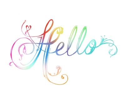 Hello typography sketch script lettering hand drawn inked cursive