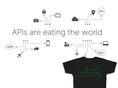 APIs are eating the world T-shirt api text tshirt