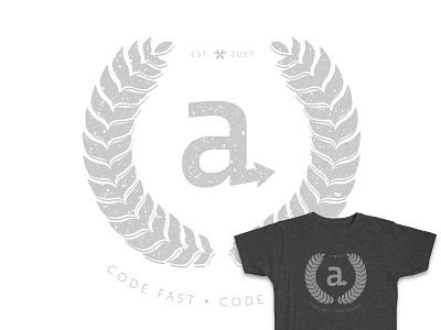 Code Fast, Code Strong T-Shirt screen print screenprint swag tshirt