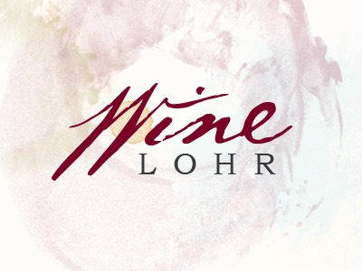 Wine Lohr wine typography watercolor type treatment type wine stains stains logo