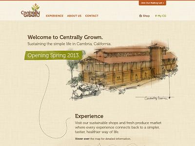 Centrally Grown Website website layout web design ui design